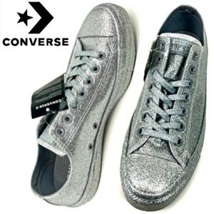 🆕️Silver Glitter Converse All Stars